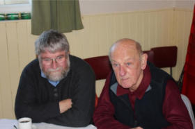 John Dixon and Colin Higgs at the Aston Abbotts Christmas Lunch 2011